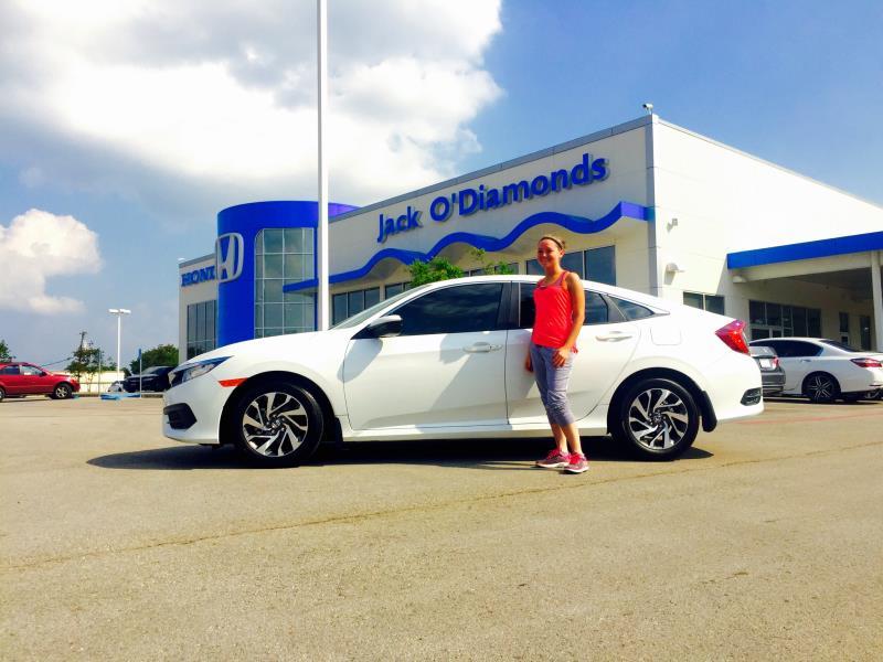 Cloud White Honda Civic!
